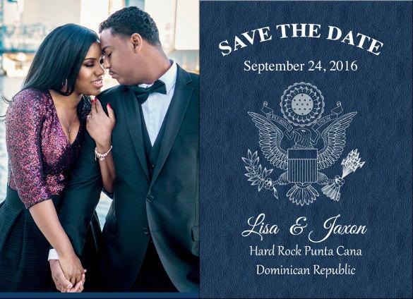 custom passport save the date destination wedding postcard