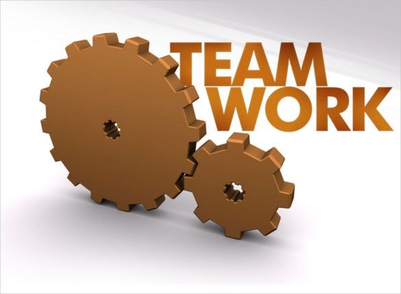 gears team work powerpoint template