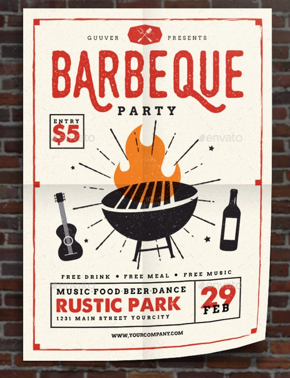 20 Barbeque Invitation Templates Free Sample Example Format – Cowboy Party Invitation Wording