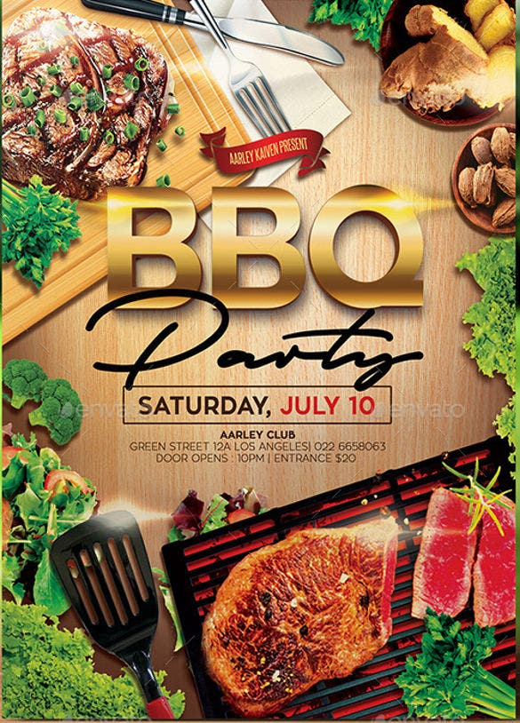 32  barbeque invitation templates