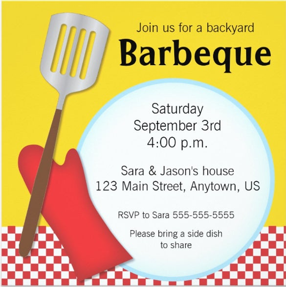 backyard barbeque invitation