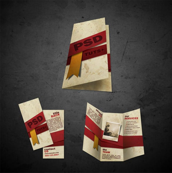 psd files front and back free brochure templates