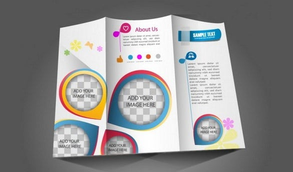 free vector tri fold brochure ai format download