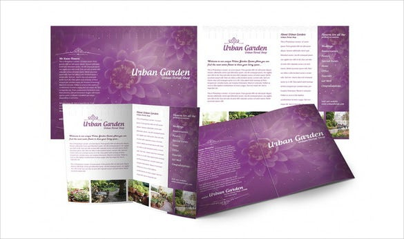 download gardening brochure template psd format for free