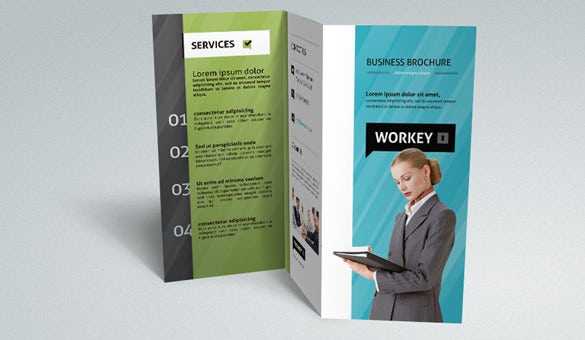 Corporate Tri Fold Brochure Template AI Design Download