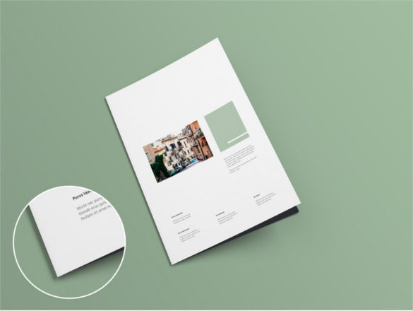 free a4 bi fold brochure mock up template psd download