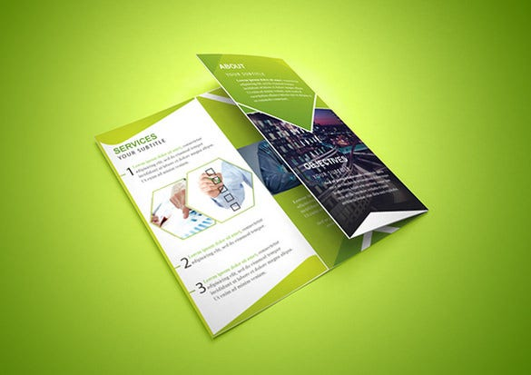 amazing free tri fold corporate brochure psd download