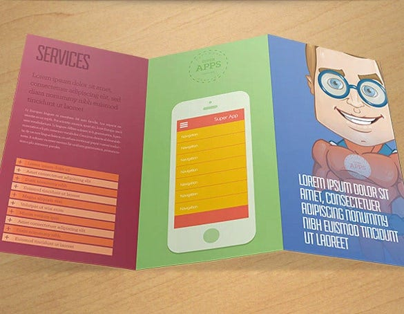cartoon ad brochure template psd format for free
