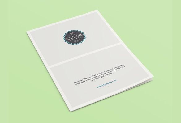folded page mockup brochure template psd design download