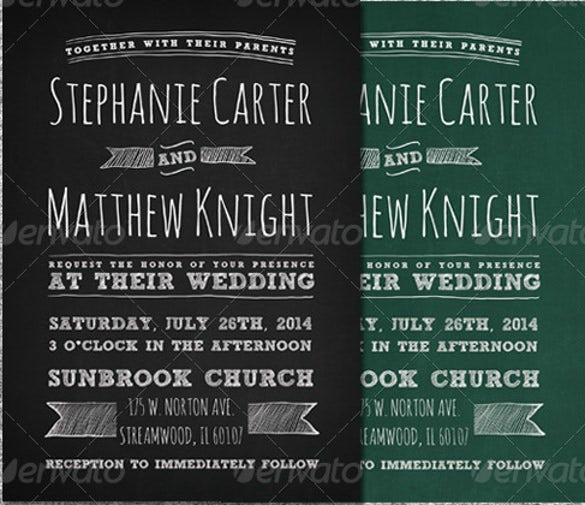 22+ Chalkboard Invitation Templates – Free Sample, Example, Format