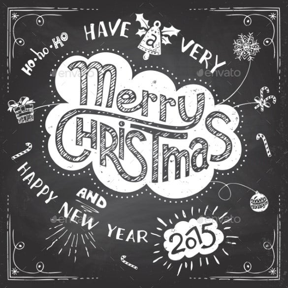 merry christmas doodle chalkboard
