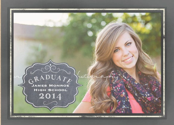 graduation invitation announcement double sided card chalkboard styling fun with variations