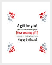 Simple Birthday Gift Certificate Word Template Free Download  Gift Certificate Word Template Free