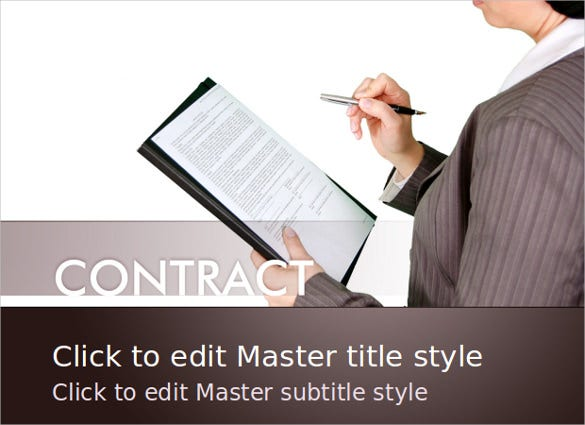 free business contract powerpoint template