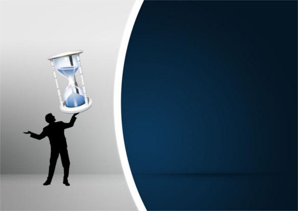 sand clock powerpoint template