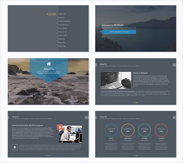 meridian business powerpoint template