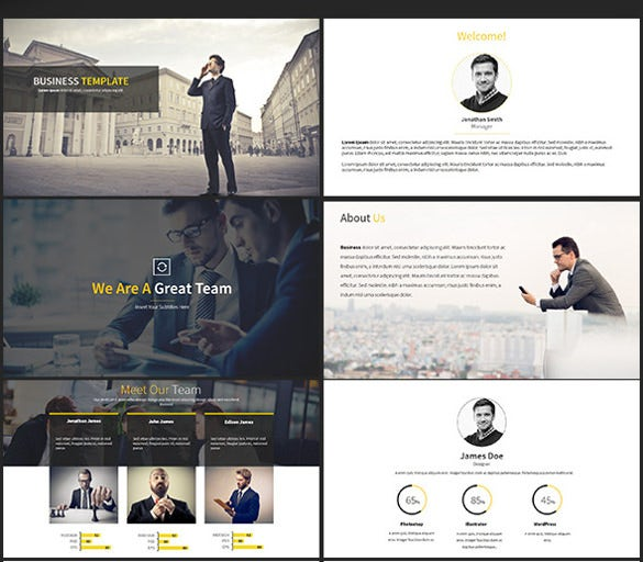 paradox business powerpoint template