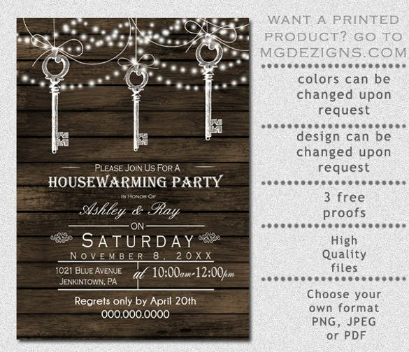 26 housewarming invitation templates free sample example barnyard vintage keys hanging rustic housewarming party invitation templates stopboris Image collections