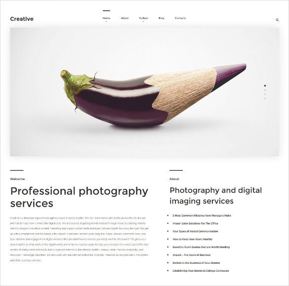 creative wordpress php them