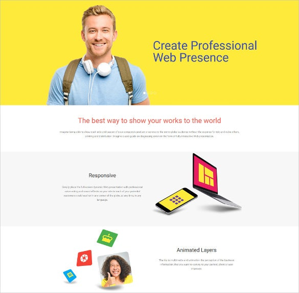 web design responsive moto cms 3 mobile php template