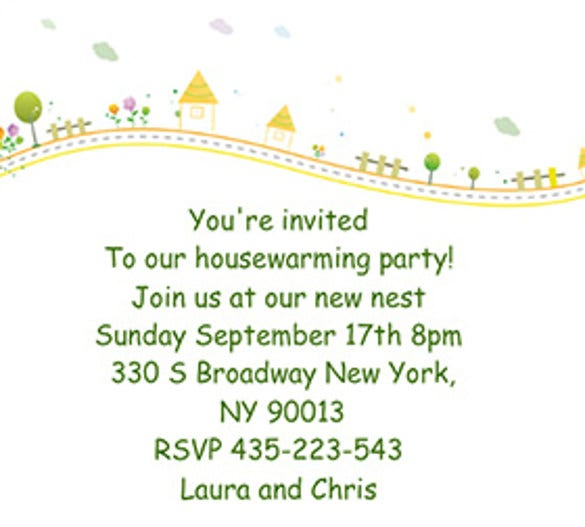 18 Housewarming Invitation Templates Free Sample Example – Free Housewarming Party Invitations