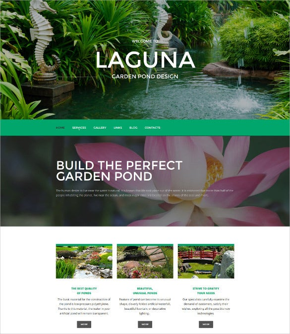 exterior design responsive moto cms 3 mobile php template