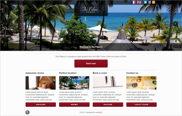 palace mobile html php theme