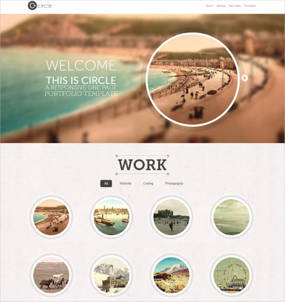 responsive one page mobile html php template