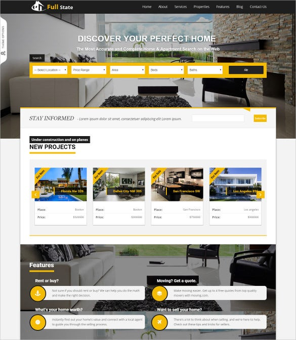 mobile wordpress php real estate theme