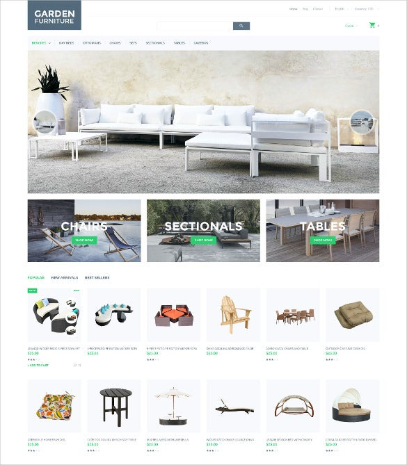 mobile furniture responsive prestashop theme
