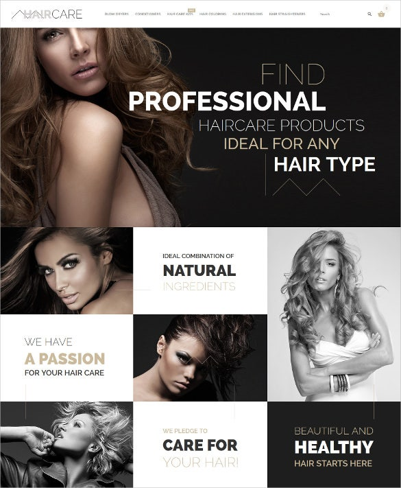 hair care prestashop mobile theme