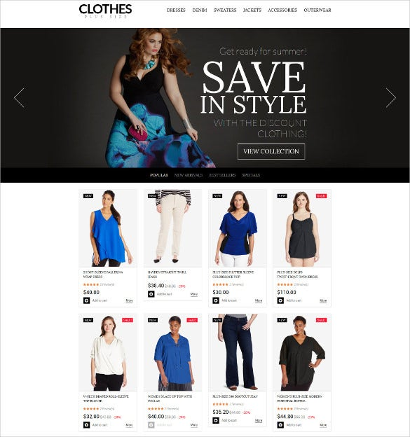 plus size womens clothing prestashop mobile theme