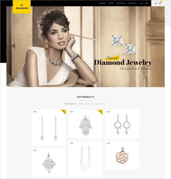 diamond prestashop mobile responsive theme