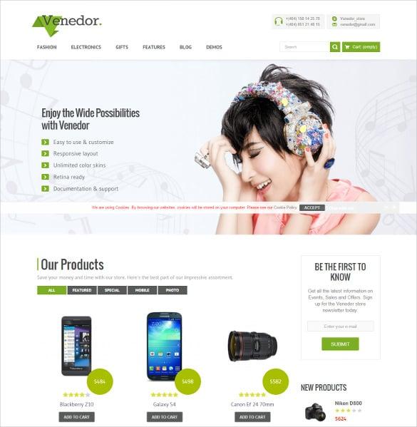 responsive ecommerce store mobile prestashop theme