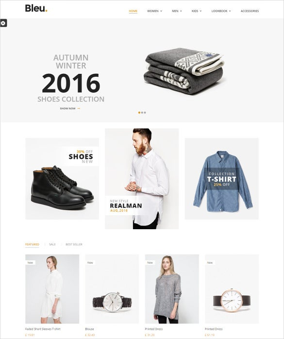 responsive prestashop fashion store mobile theme
