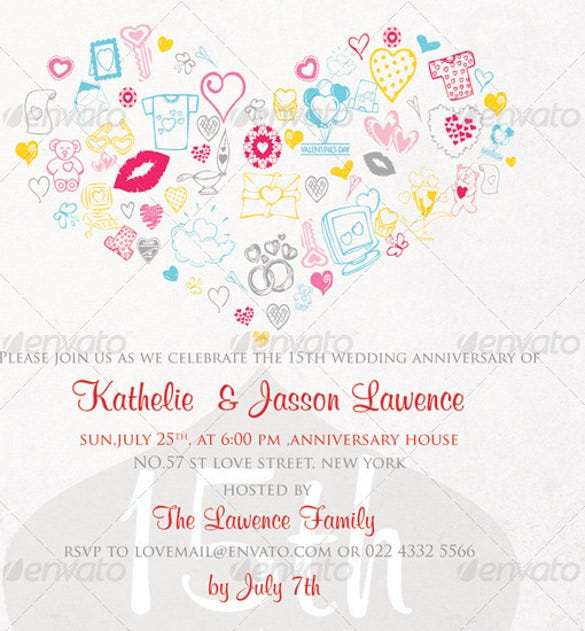 22+ Anniversary Invitation Templates – Free Sample, Example ...