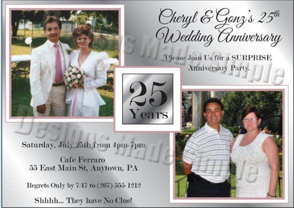 22+ anniversary invitation templates – free sample, example, Wedding invitations