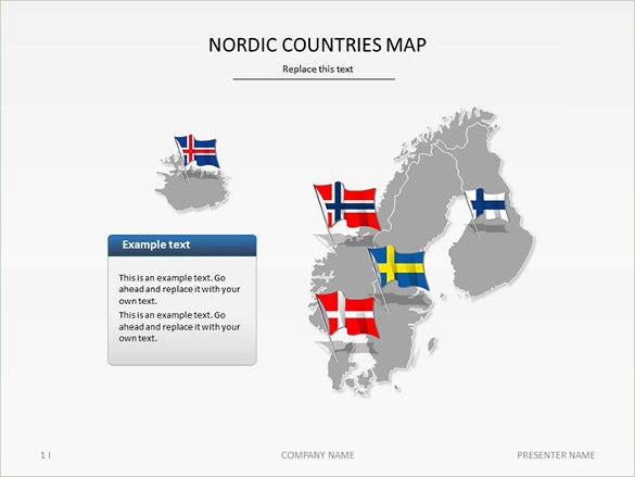 scandinavia maps bundle powerpoint template best sample