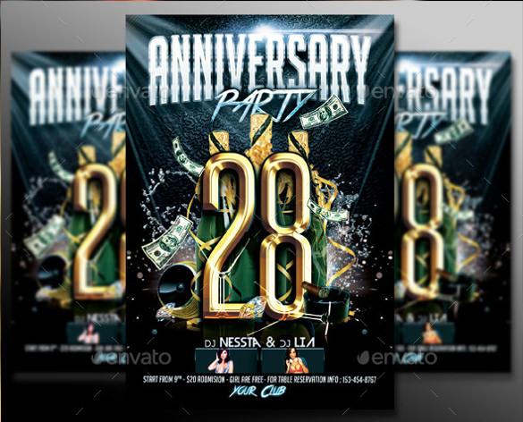 28 anniversary invitation mennisa
