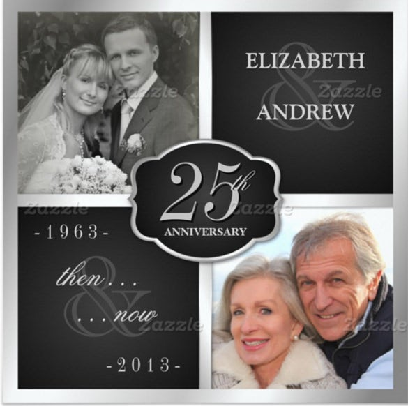 25 anniversary invitation templates free sample example format