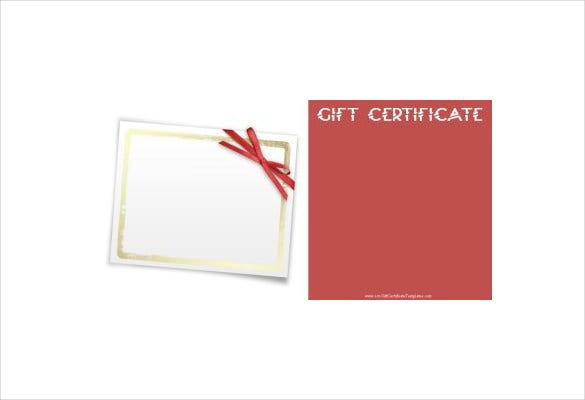 pink colour blank gift certificate pdf format free download