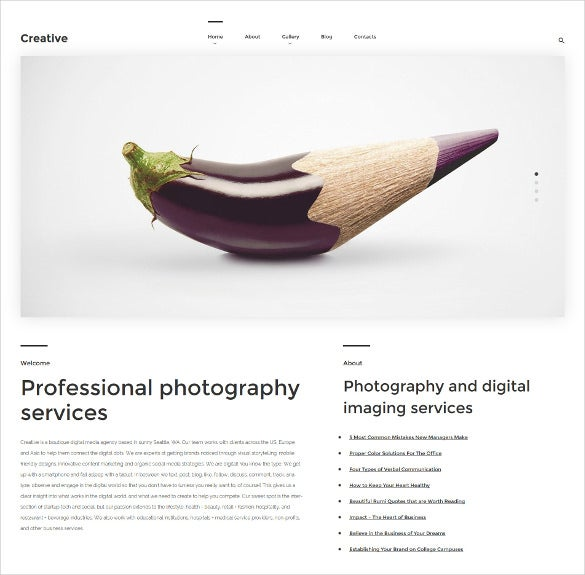 creative wordpress mobile bootstrap theme