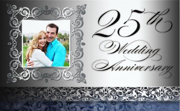 25th wedding anniversary photo invitation for all