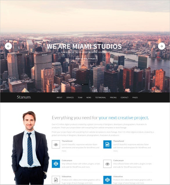 responsive mobile bootstrap wordpress business theme