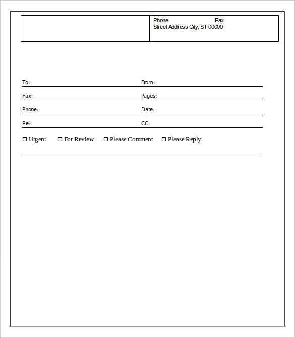 Printable Fax Cover Sheet 10 Free Word PDF Documents Download – Fax Cover Sheet Template Word