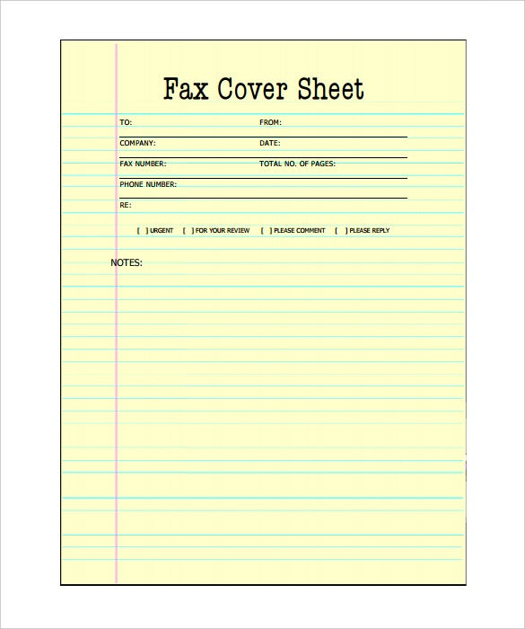 Wonderful Printable Blank Fax Cover Sheets Template PDF Download