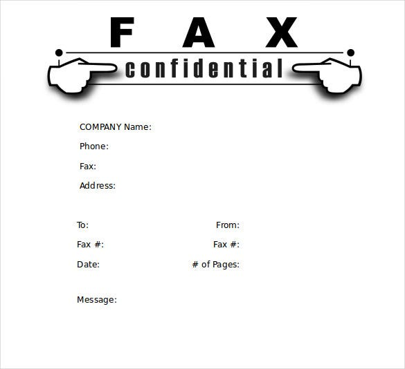 Cute Fax Cover Sheet. A Cartoon Person Waits Anxiously For A Fax