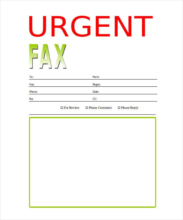 Urgent Fax Cover Sheet Template Free Download  Fax Cover Sheet Download