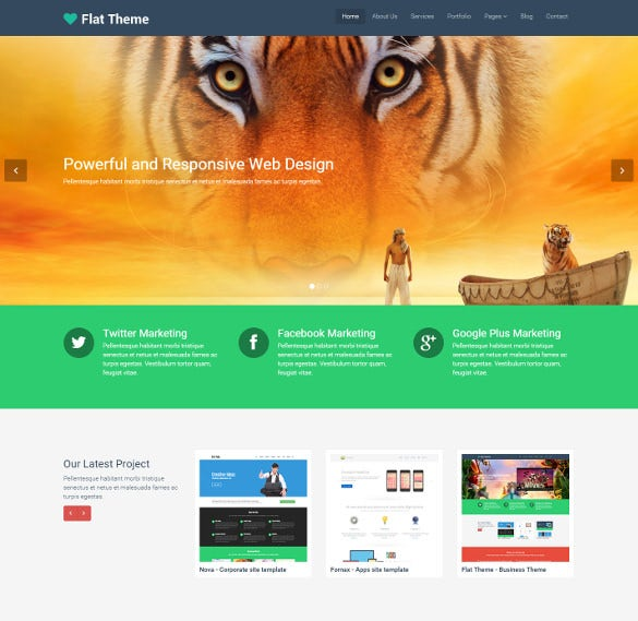 free responsive bootstreap multipurpose mobile site template