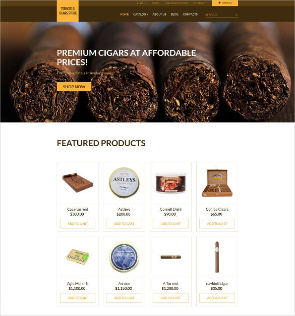 tobacco responsive mobile virtuemart theme
